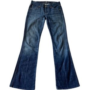 7 FAMK a pocket flare blue jeans